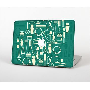 The Teal and Yellow Beauty Product Icons Skin for the Apple MacBook Air 13""