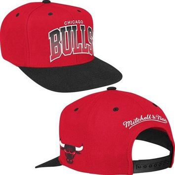 Chicago Bulls Two Color Script Snapback Hat