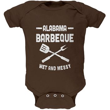 Alabama Barbeque Wet and Messy Soft Baby One Piece
