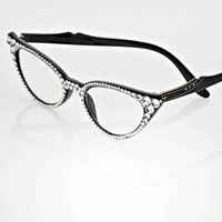 Black Cateye Reading Glasses