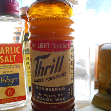 Full Antique Thrill Furniture Wax Bottle by ZoeAmaris on Etsy
