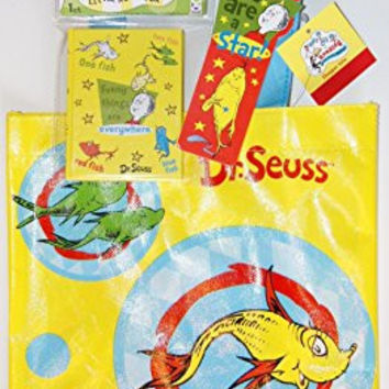 "Dr. Seuss ""One Fish, Two Fish"" School Supply Set - Tote, Mini-Notebook, and Bookmark"