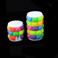 2PCS 3D Rotate Slide Spinner Cylinder Sliding Puzzle Anti Stress Autism Toys