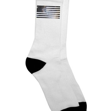 American Flag Galaxy Adult Crew Socks  by TooLoud