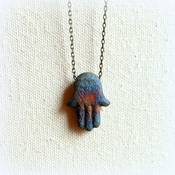 Hamsa hand necklace hand of fatima evil eye necklace for protection hamsa necklace
