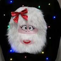 Abominable Snow-Woman - LIGHT UP - UGLY CHRISTMAS SWEATER | StickItVinyls