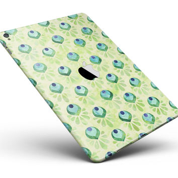 "Green Watercolor Peacock Feathers Full Body Skin for the iPad Pro (12.9"" or 9.7"" available)"