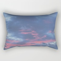 Cotton Candy Clouds Rectangular Pillow by Brittany