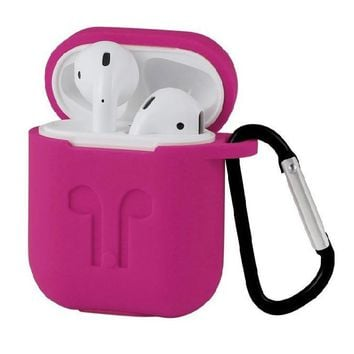 Airpods Case Airpod Accessories Case Airpods Protective Silicone Case for Apple Airpod Charging Case with Anti-lost Strap and Carabiner, Premium Quality Water-proof Shock-proof Case for Apple AirPods