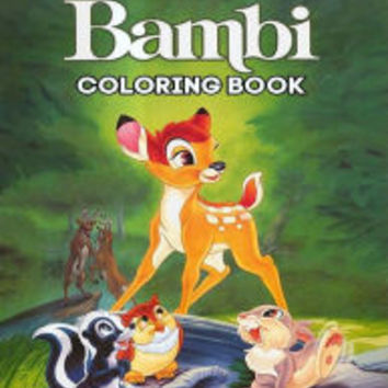 Bambi Coloring Book: Coloring Book for Kids and Adults, This Amazing Coloring Book Will Make Your Kids Happier and Give Them Joy