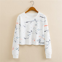 Stylish Print Long Sleeve Hoodies [9101512967]