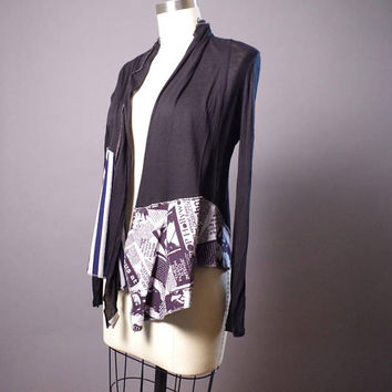 Patchwork OOAK Cardigan - Spring Cardigan - Street Wear - Fashion - Designer Clothing