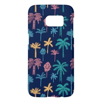 Palm Tree Leaf Pattern Samsung Galaxy S7 Case