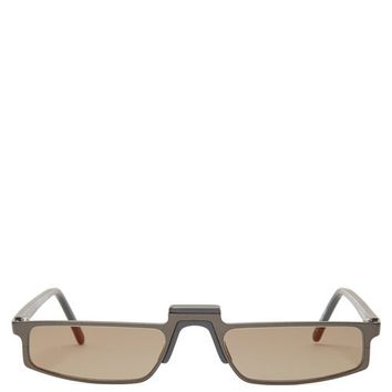 Muhren rectangle-frame sunglasses | Andy Wolf | MATCHESFASHION.COM US