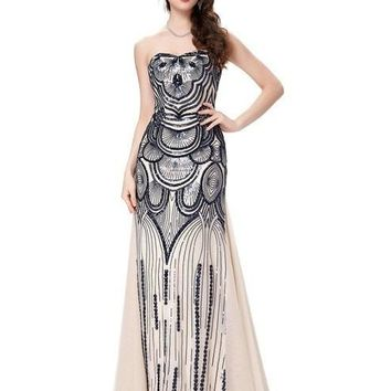 Evening Dresses Long Women Sequins Robe De Soiree Patterns Evening Gown Special Occasion Formal Dress