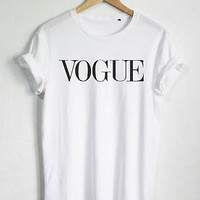 VOGUE T SHIRT WOMEN FASHION SHIRT STREET OUTFIT UNISEX QUOTE TUMBLR SHIRTS TEE