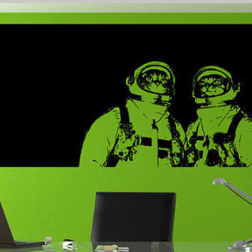 Space Cats Kittens cosmonaut Stickers Decals Wall Stickers Decor Sticker tr183-1