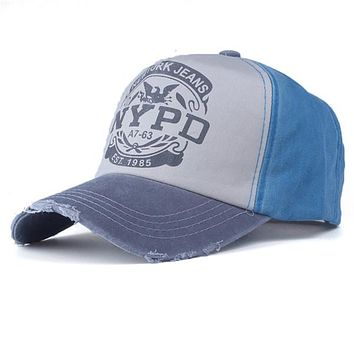 NYPD Vintage Distressed Baseball Caps