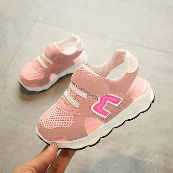2019 High quality 1 to 5 years old baby sandals summer breathable newborn sports shoes non-slip boys and girls soft bottom shoes