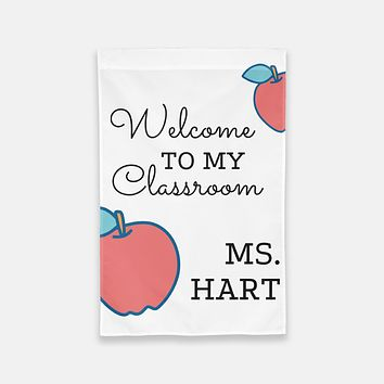 Personalized Classroom Flag | Gift for Teacher | Welcome to My Classroom Flag | Personalized Teacher Gift | Teacher Flag