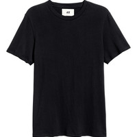 Cotton and Silk T-shirt - from H&M