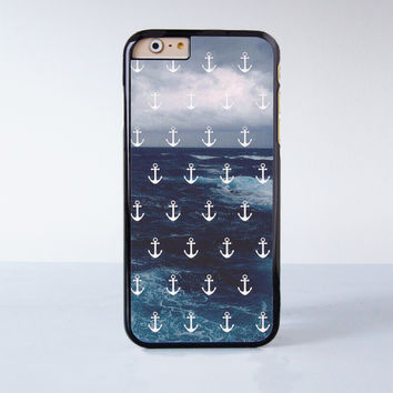 Ocean Anchor Plastic Case Cover for Apple iPhone 6 6 Plus 4 4s 5 5s 5c