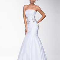 Nina Canacci 2014 Prom Dresses - White Tulle & Beaded Mermaid Silhouette