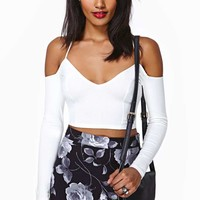 Nasty Gal Cold Shoulder Crop Top