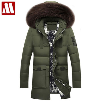 Winter Men Down Jacket Fur Hood Down Coat Winter Jackets High Quality Fashion Men's Coats