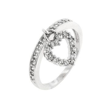 Heart Charming Ring (size: 10) (pack of 1 ea)