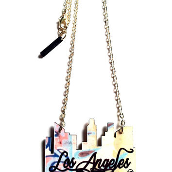 To Live and Die Los Angeles Pendent Necklace