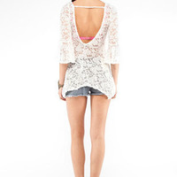Juliet Lace Tunic in Ivory :: tobi