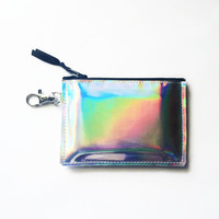 Holographic Vinyl Card Holder Wallet