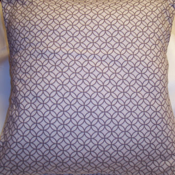 Decorative Pillow Cover, Throw pillow Cover Single ,16 x 16 White and Gray Pattern