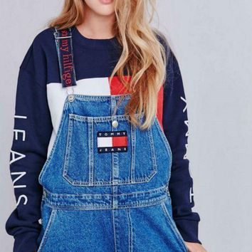 PEAPUF3 Tommy Jeans x Urban Outfitters Fashion Romper Jumpsuit Pants