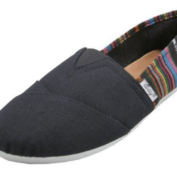 Womens Canvas Slip On Shoes Flats