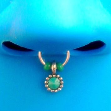 Blue Tribal septum faux nose ring piercing imitation (Clip on) nose ring No piercing required, choose a colour-For him/For her