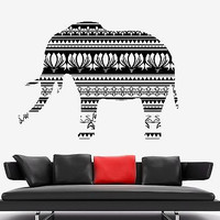 Wall Vinyl Elephant Animal Africa Ornament Mural Vinyl Decal (z3339)