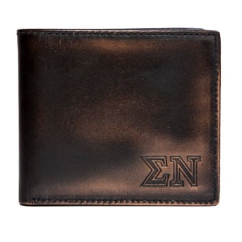 SIGMA NU Bifold Wallet - Mens Wallet - Leather Wallet - Bifold