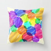 Abstract color Throw Pillow by Silvianna