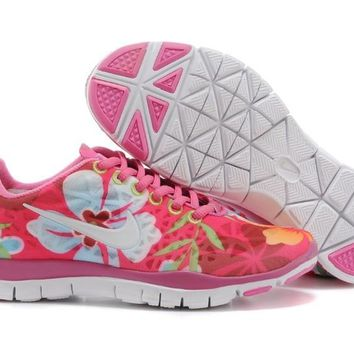 Women's Nike Free TR FIT 3 Print Limited Training Shoes Pink/Flower White