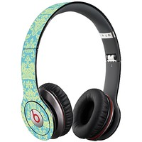 Vintage Blue Green Damask Skin  for the Beats Solo HD by skinzy.com