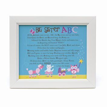 Big Sister ABC Poem in 8x10 White Frame