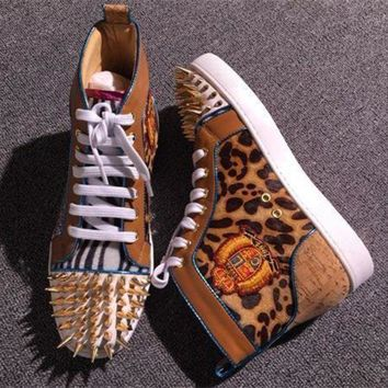 DCCK Cl Christian Louboutin Pik Pik Style #1982 Sneakers Fashion Shoes