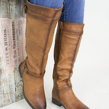 Chic Buckle Riding Boots