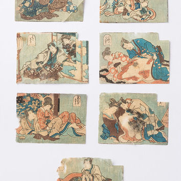 RARE - Shunga 25 piece set - Japanese Mini Erotic Picture Set