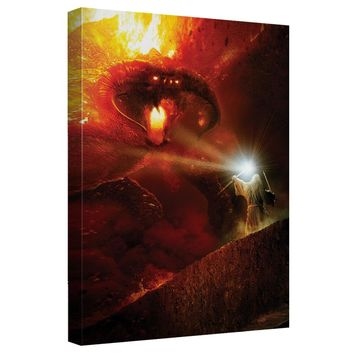 Lord Of The Rings - Balrog Canvas Wall Art With Back Board