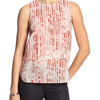Banana Republic Womens Factory Contrast Hem Panel Top