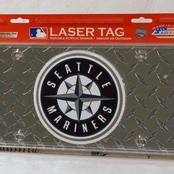 Seattle Mariners Laser Cut Diamond Plate License