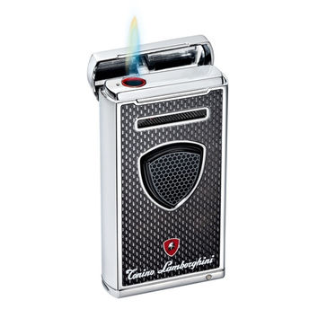 Tonino Lamborghini Pergusa Black Carbon Fiber Torch Flame Lighter